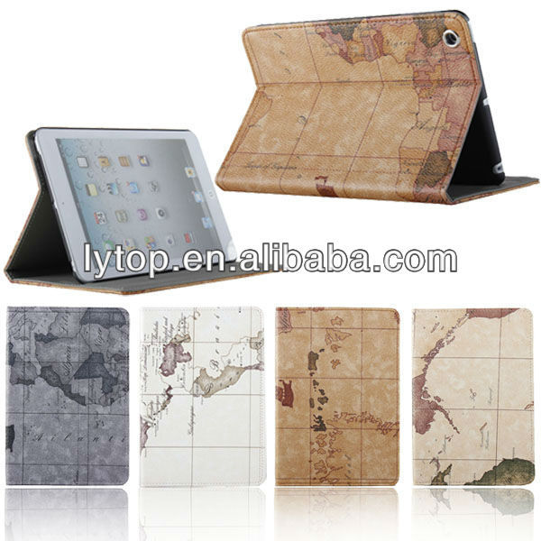 New Arrival Case for Ipad Mini Map Style