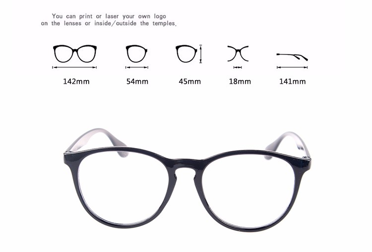Free sample China YNJN round frame brand your own custom logo CE wholesale reading glasses