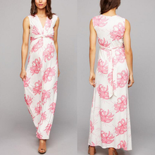 wholesale floral V neck western maternity maxi dresses for office