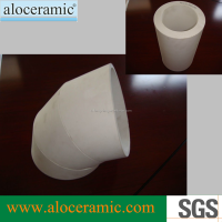 Good Wear Resistance Aluminum Ceramic Bends ,Alumina Elbows,Al2O3 Ceramic Pipes