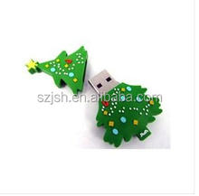Bulk cheap usb drive 2.0 1gb 2gb 4gb 8gb Merry Christmas Tree PVC Carton gifts usb with cheapest price