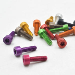 High precision Colorful Aluminum DIN 912 Hexagon cup head screw