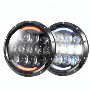 High quality 7'' 105w led headlight for jeep, 105 watt led headlight