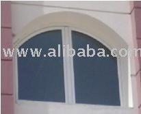 Aluminium Fixed Window With Arch
