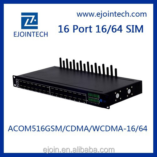 Ejoin High Quality GSM Gateway 16 Port 64 sim GSM VoIP Gateway multi recharge software