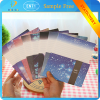 2015 alibaba expressOriginal hand-painted firefly starry night sky scenery postcards (6pcs)