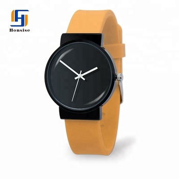 Factory Best Selling Simple Fashion Casual Design Your Own Logo Silicone Quartz Watch For Women