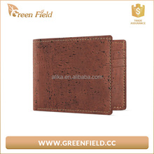 The Unique nature material Cork Leather Mens Wallet