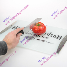 Custom printed cutting board personalized tempered glass chopping board