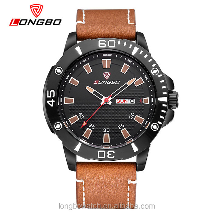 Longbo brand sport style japan movt quartz wrist chronograph watch for men