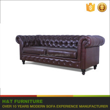 Sala Sets Furniture Chesterfield Sofa With Roll Arms Leather Upholstery Sofa H109