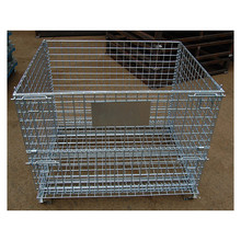 2017 Galvanized Metal Storage cage/wire mesh container for wearhouse storage