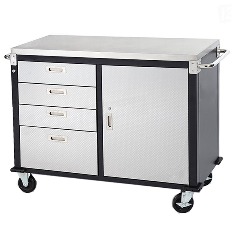48 Inch China professional mobile collapsible stainless steel garage locking Tool cabinet trolley