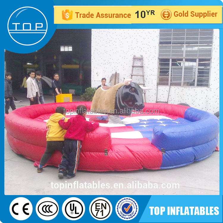 TOP mechanical inflatable rodeo bull for sale made in China