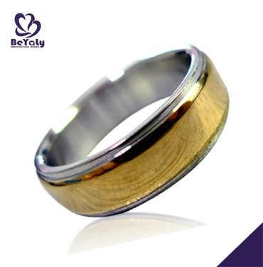 Cheap yellow belt design for men titanium ring castings