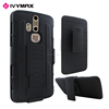 2 in 1 Rubber skin cell phone case for ZTE AXON PRO, hybrid plastic silicone back cover
