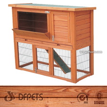 Rabbit Hutch Outdoor Run Small Pets Animals Bunny Cage Pen Shed DFR041