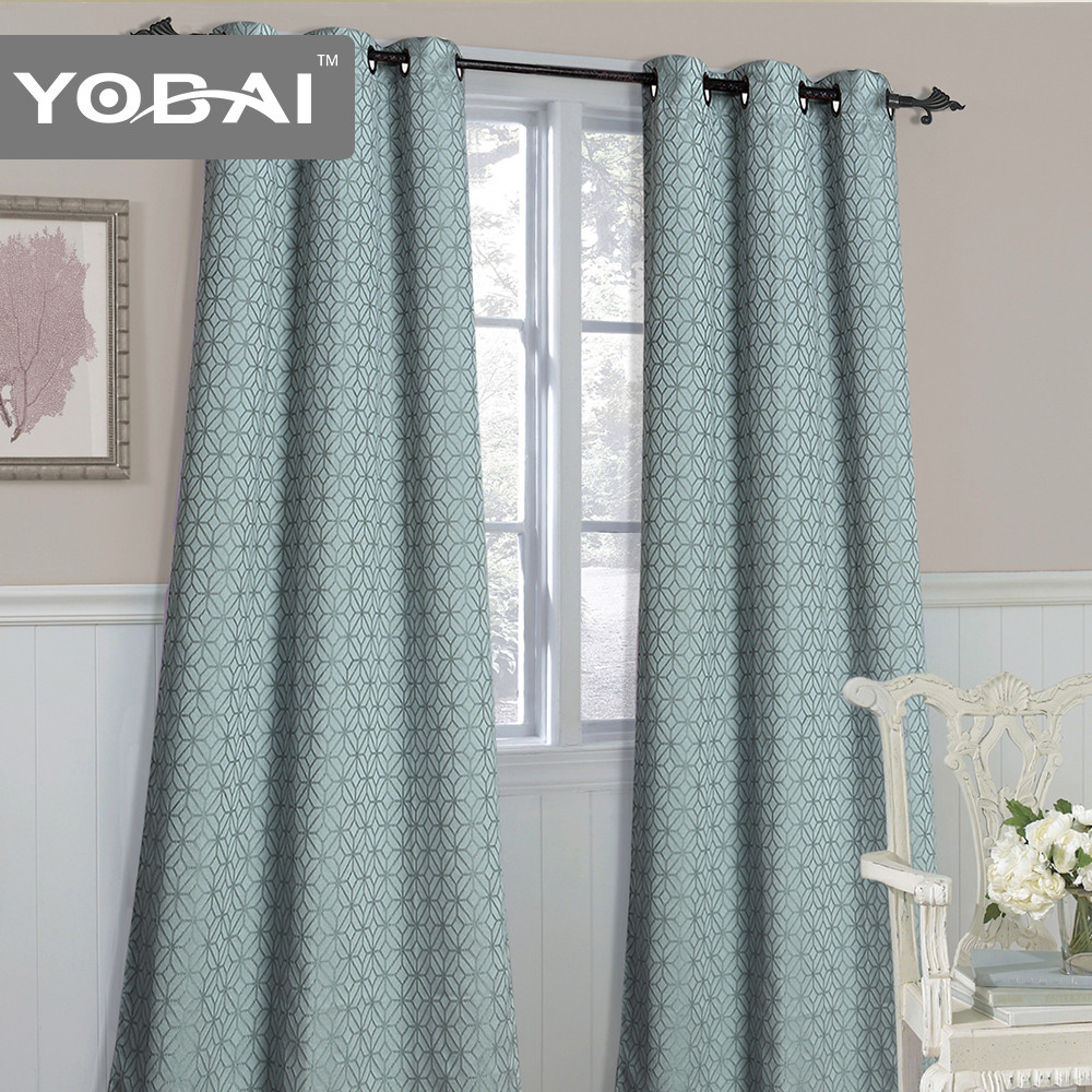 Customize European Style Price Living Room Partition Jacquard Curtain