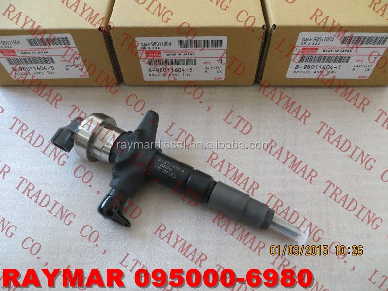 DENSO Common rail injector 095000-6980,095000-6983 for I*S*U*Z*U 8980116040, 8980116045, 8-98011604-0, 8-98011604-5