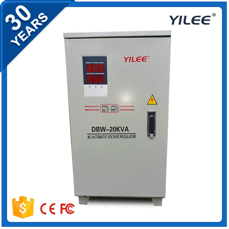 Full automatic single phase compensated voltage optimizer stabilizer improves the power