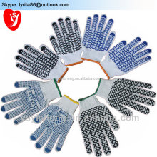 PVC Dotted Cheap Safety Work Gloves Cotton Knitted White Gloves Cotton String Knit glove