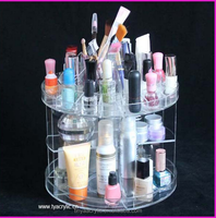 Easy Access makeup display stand racks Acrylic Cosmetic organizer Wholesales
