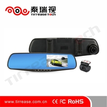 All Winner A20 4.3 inch Full HD Car DVR Rearview Mirror with Rear Camera DVR