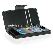 Super Thin Selected Leather Hot Selling Wallet Case for iphone5