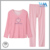 OME ladies grid pants casual 100 cotton pink sleepwear