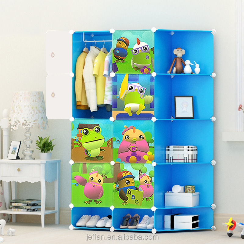 wholesale DIY plastic storage container organizer bin clothes cabinet for kid bedroom