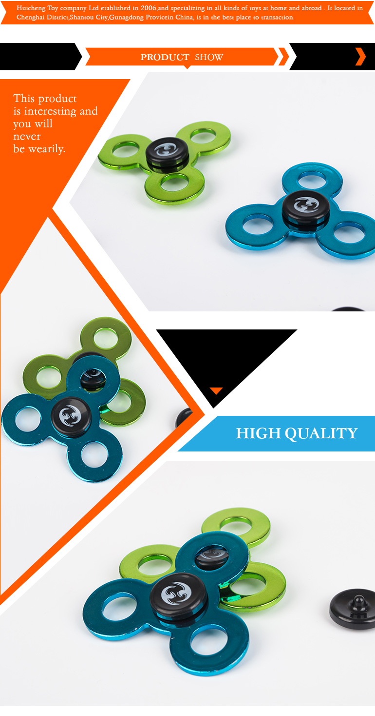 Popular toys mini alloy finger hand crazy spinner toy for adults or kids