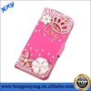 OEM diamond leather cover wholesale cell phone accessory