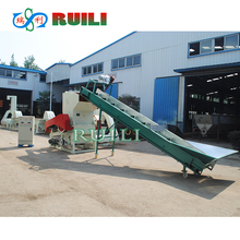 PET bottle plastic crushing machine with silo