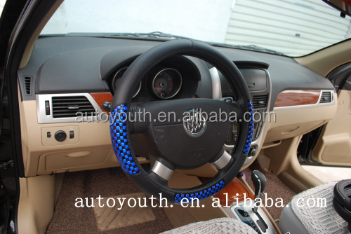 DSC0644 Uniersal hand leather sewing car steering wheel