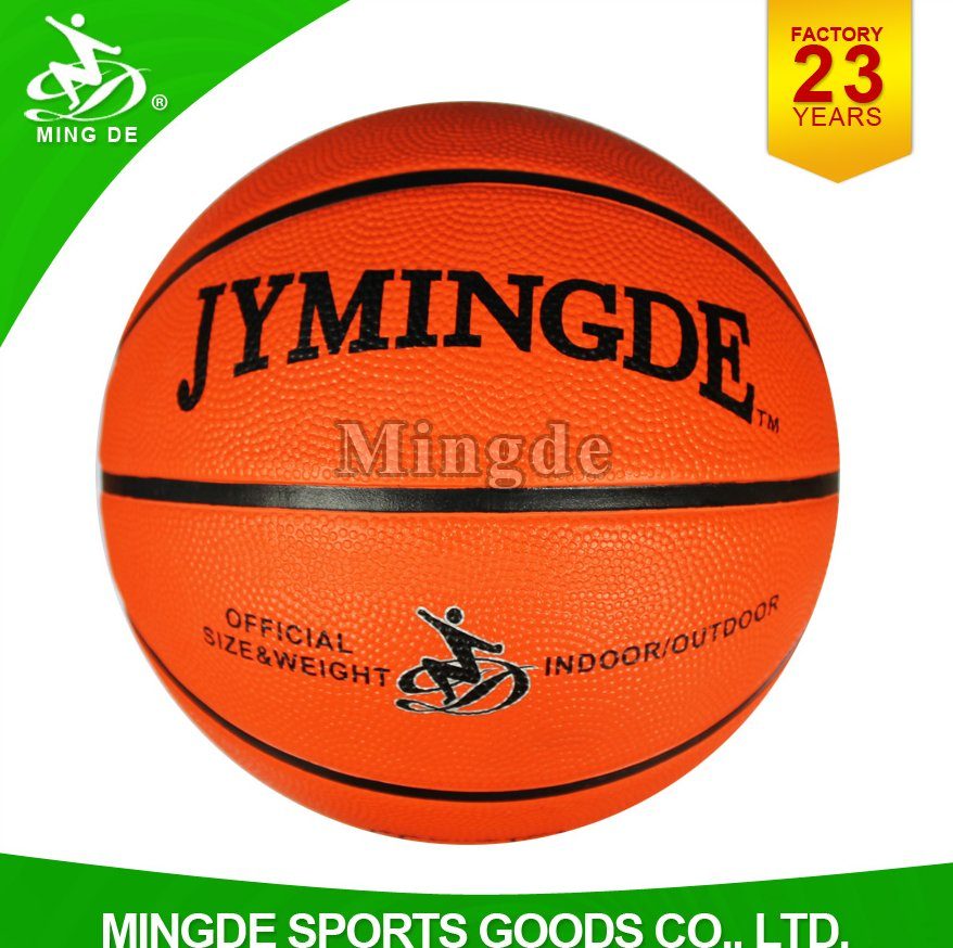 2016 high grip orange rubber basketball wholesale