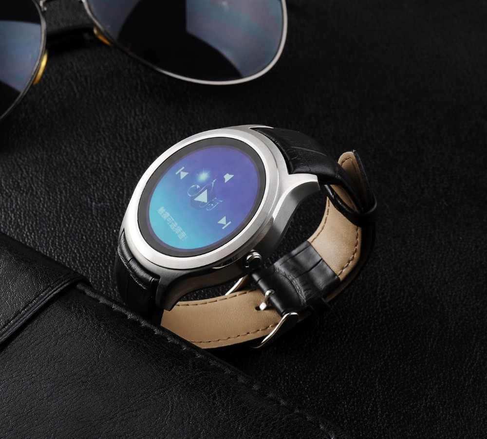 Round Circular Smart Watch ios and android 2015 for <strong>apple</strong> for iphone 6 3G WCDMA Nano card