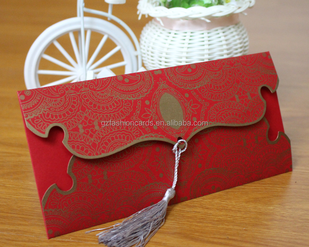 Chinese Wedding Paper Handmade Custom Wedding Invitation Card in Malaysia