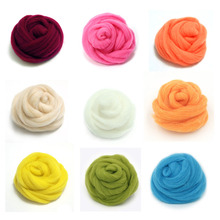 Wholesale cheap price free sample wool roving top for crafts felting