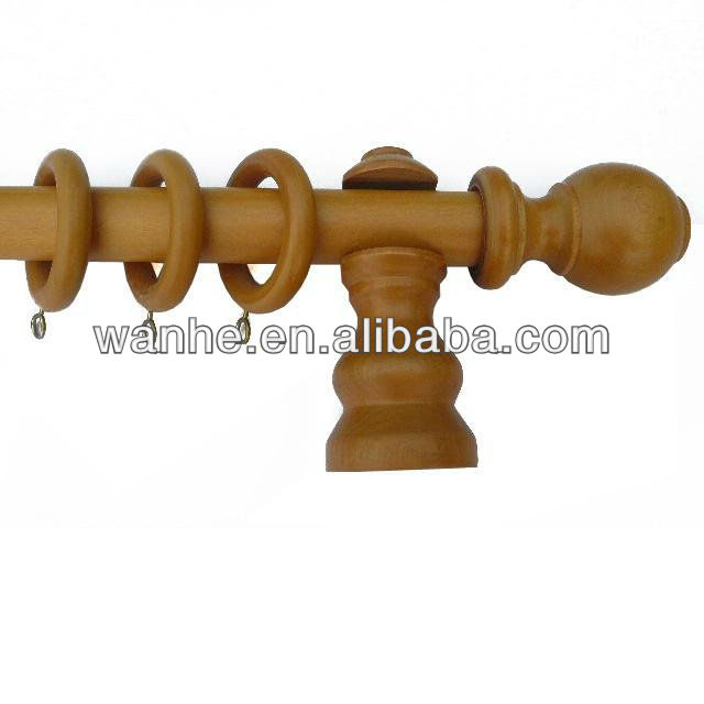 Fancy wooden curtain rods