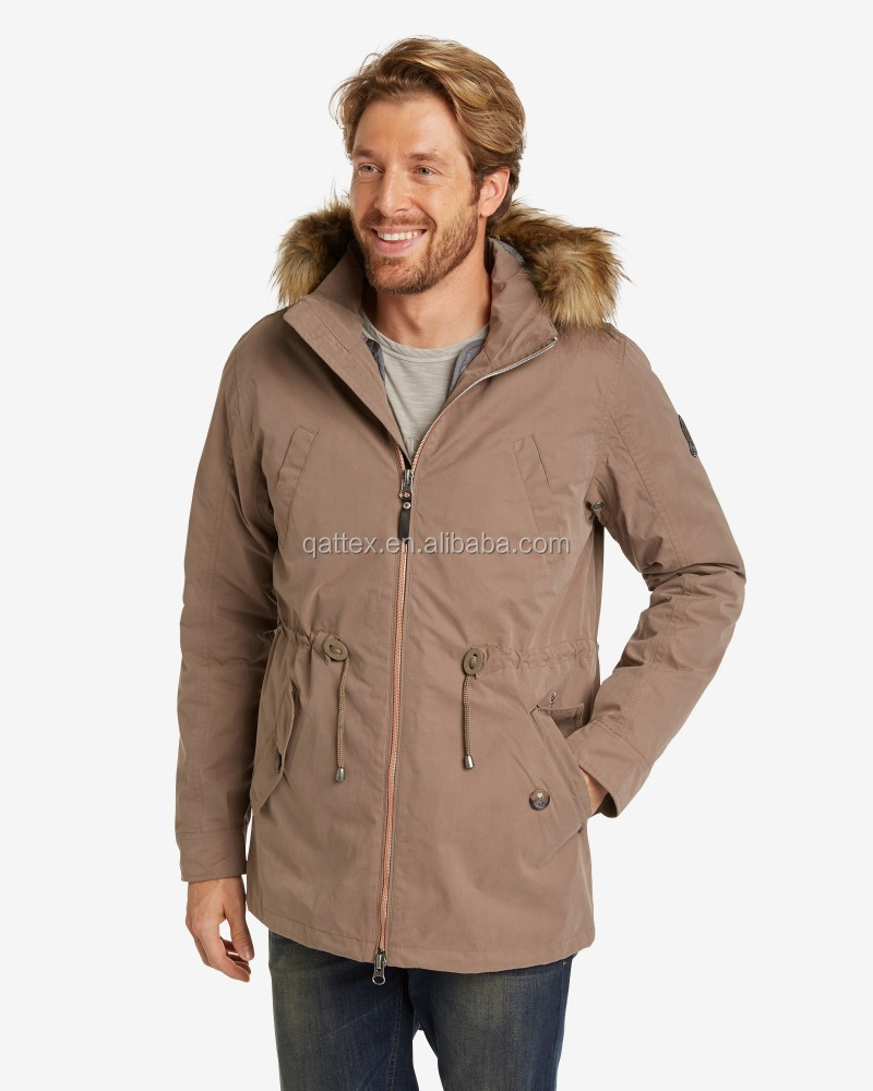 59% polyester 31%cotton 10% polymide peach skin TPU laminated fabric 5000/5000mm with inner padded vest 2in1 men jacket