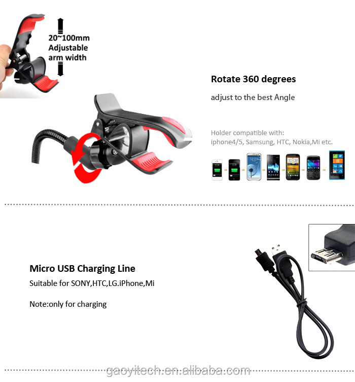 2015 innovative cell mobile phone accessory smart phone car holder car charger cell phone shoulder holder (HC44J)
