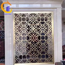 Custom high end laser cut sheet metal decorations stainless steel screen partition