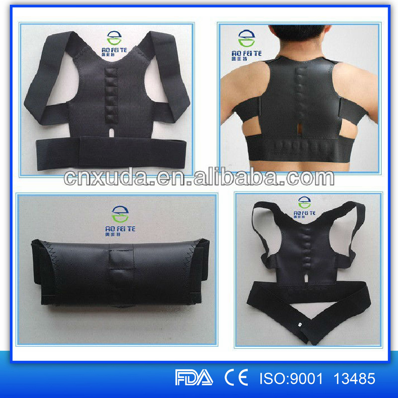 2015 New product magnetic massager belt back support correct back posture belt