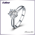Fashion New Arrival Six Jaw Crown 925 Sterling Silver Rings