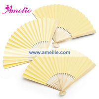 AF151 Promotional Colorful Hand Paper Bamboo Fan (Lowest Price)