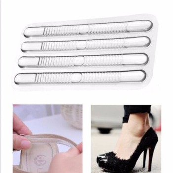 4pcs Fashion New Fashion Silicone Gel Heel Cushion protector Shoe Insert Pad Insole Foot Care Tool