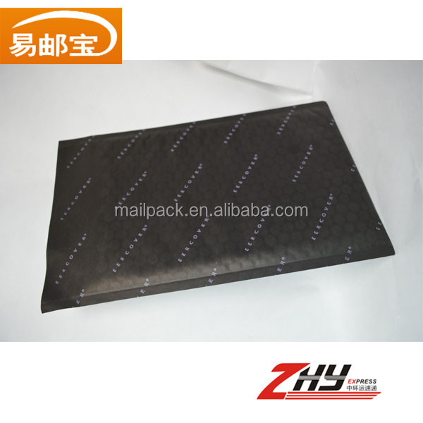 black bubble mailer kraft bubble material padded envelope with logo air packaging bag