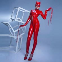 Drop Shipping Cat Women PVC Girls Sex Party Bondage Costumes For Adults