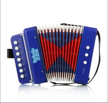 children 7 key 2 bass plastic and colorful musical button toy accordion for sale