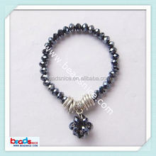 Beadsnice ID 5978 Imitated crystal glass bracelet bead 6x4.5mm & 15mm tracking device bracelet